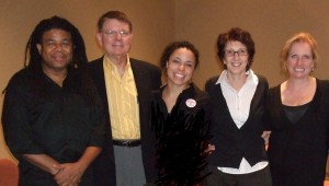 Words of Choice Team with Dr. George Tiller (2 fr l)